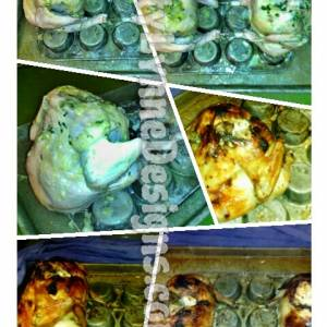 DIY Vertical Chicken Roaster (Muffin Tin + Baking Sheet)