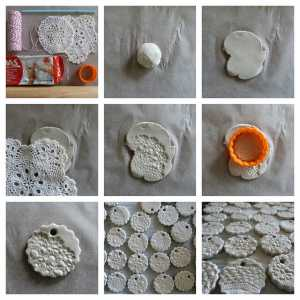 Air-dry clay ornament tutorial