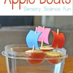 Apple Boat Science Activity