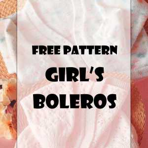 Free knitting pattern to knit a baby girls bolero.