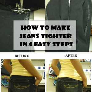 How to make jeans tighter in 4 easy steps