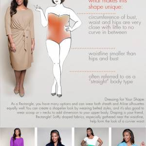 How to dress for your body shape: Rectangle