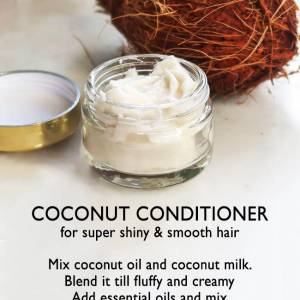 Easy recipe for homemade coconut conditioner