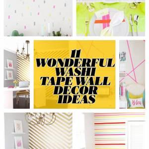11 WONDERFUL WASHI TAPE WALL DECOR IDEAS