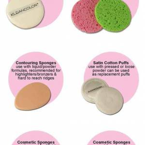 makeup charts types of sponges