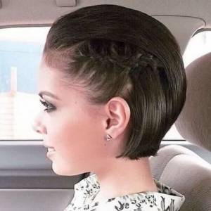 modified braided pompadour