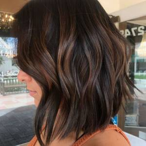 short brown balayage