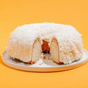 "White Chocolate Coconut ""Tom Cruise"" Bundt Cake"