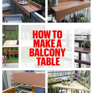 How to make a balcony table: ideas and tutorial to master this custom DIY