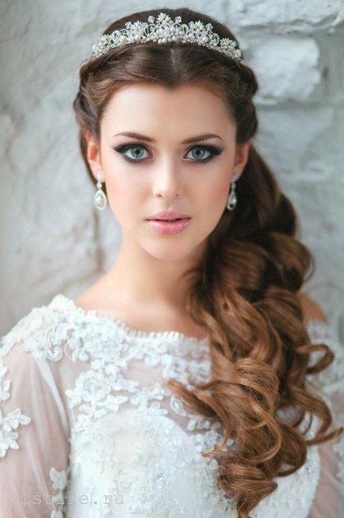 wedding half up half down hairstyle for long hair