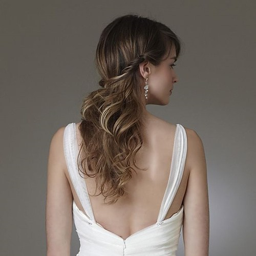 half up half down hairstyle for fine hair