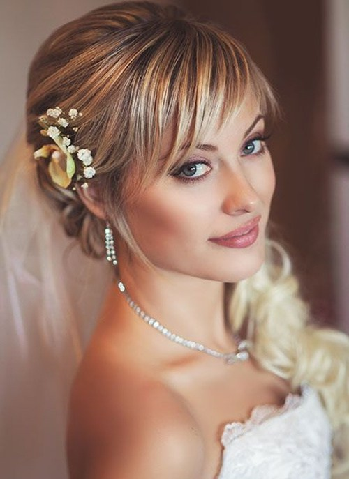 wedding hairstyle with highlights