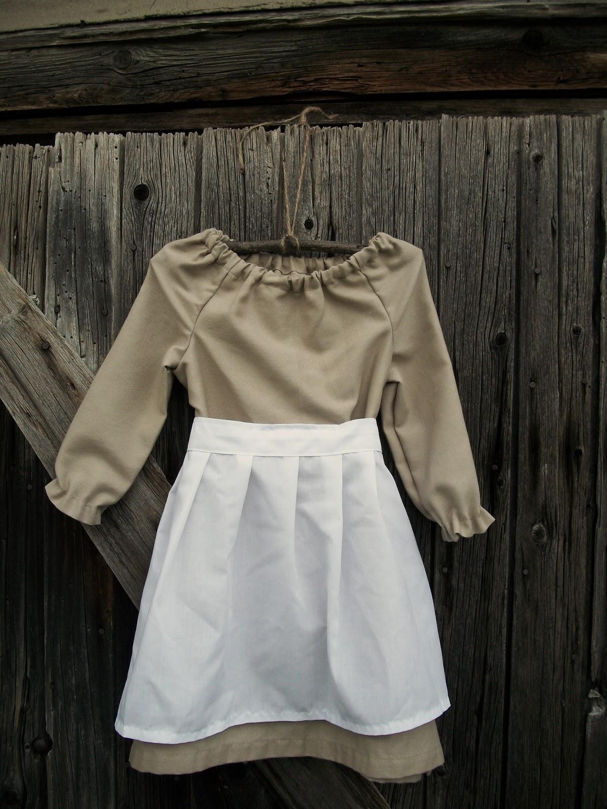 Peasant Dress with Apron