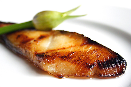 Miso-Glazed Sea Bass or Black Cod
