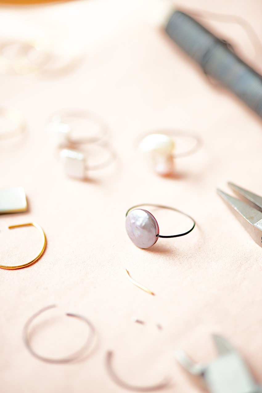 Wire Rings With Beads Tutorial