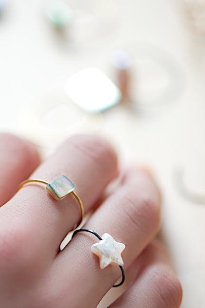 wire ring with bead tutorial by lebenslustiger.com, Anleitung für einen Drahtring mit Perle von Lebenslustiger.com