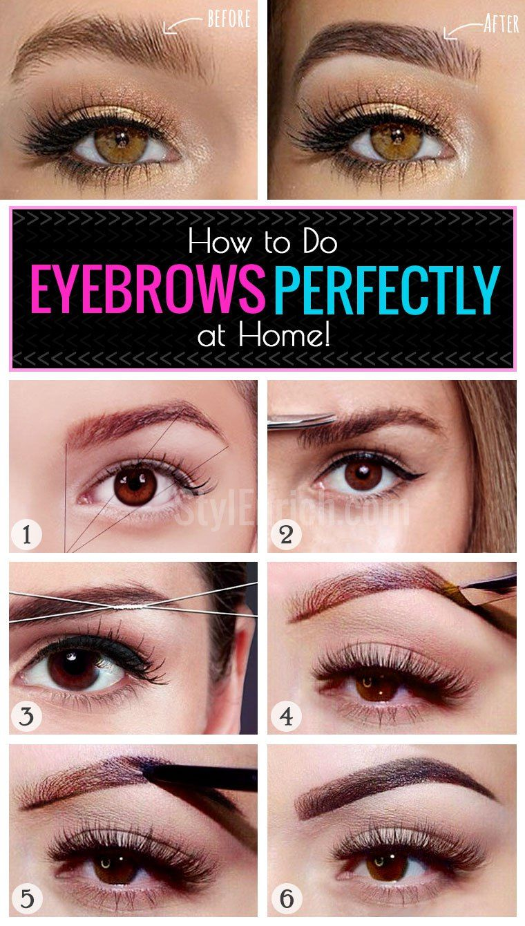 How to Do Eyebrows Perfectly at Home? - How to do eyebrows ...