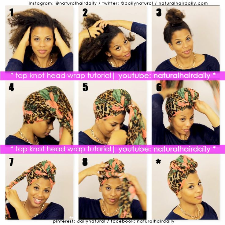 Top Knot head Wrap