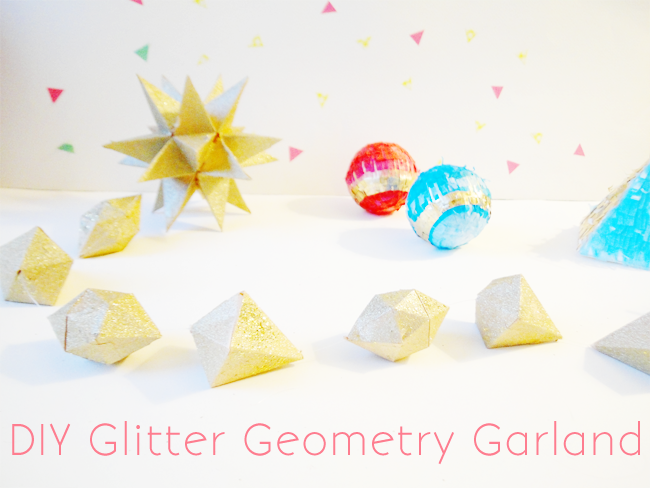 DIY GLITTER GEOMETRY GARLAND