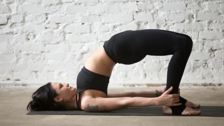 Yoga bridge pose - Setu Bandhasana