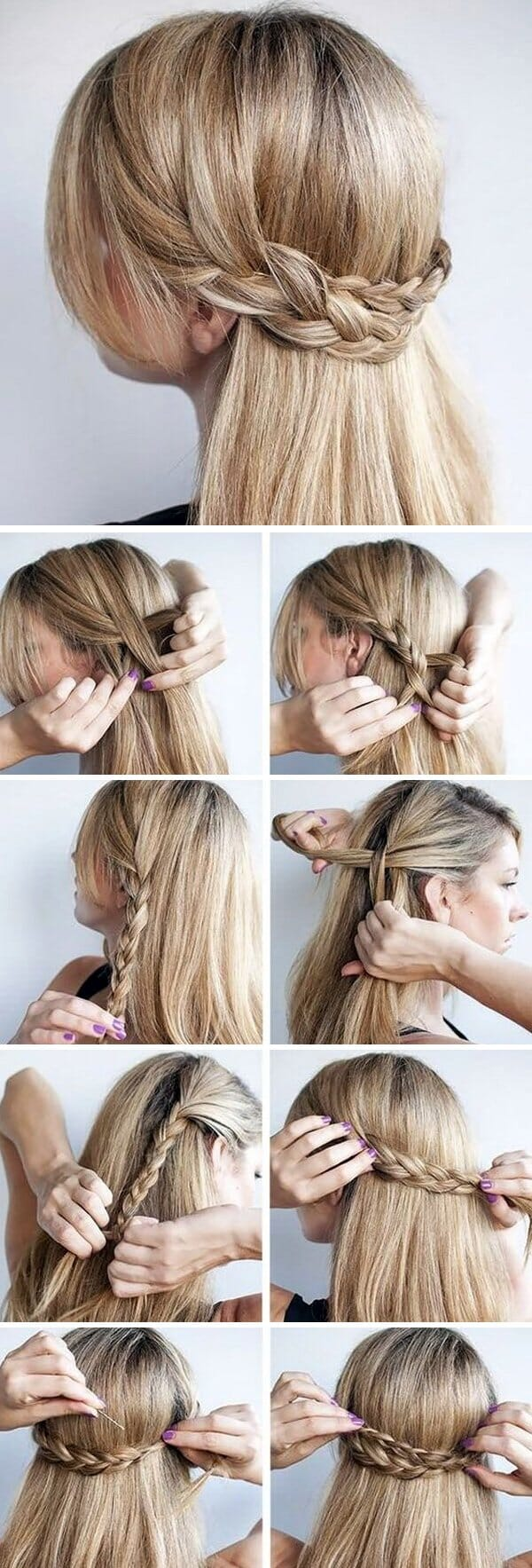 step by step braided hairstyle