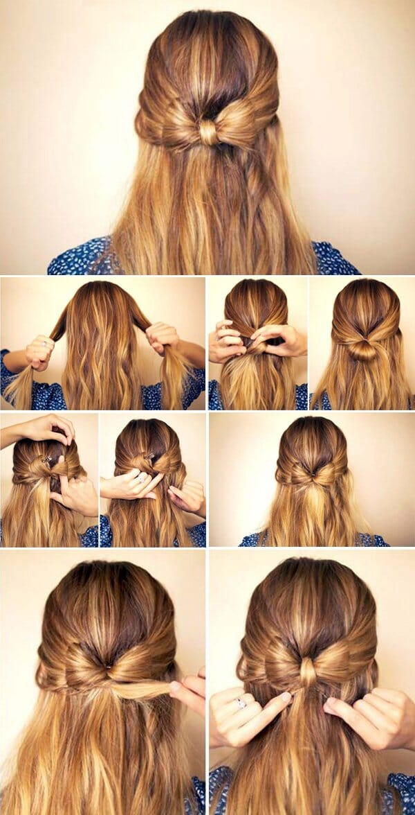 bow tie hairstyle