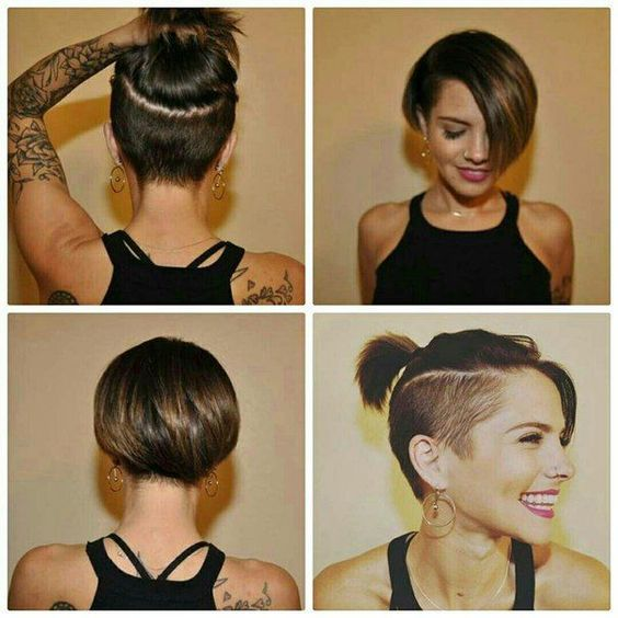 cute edgy undercut