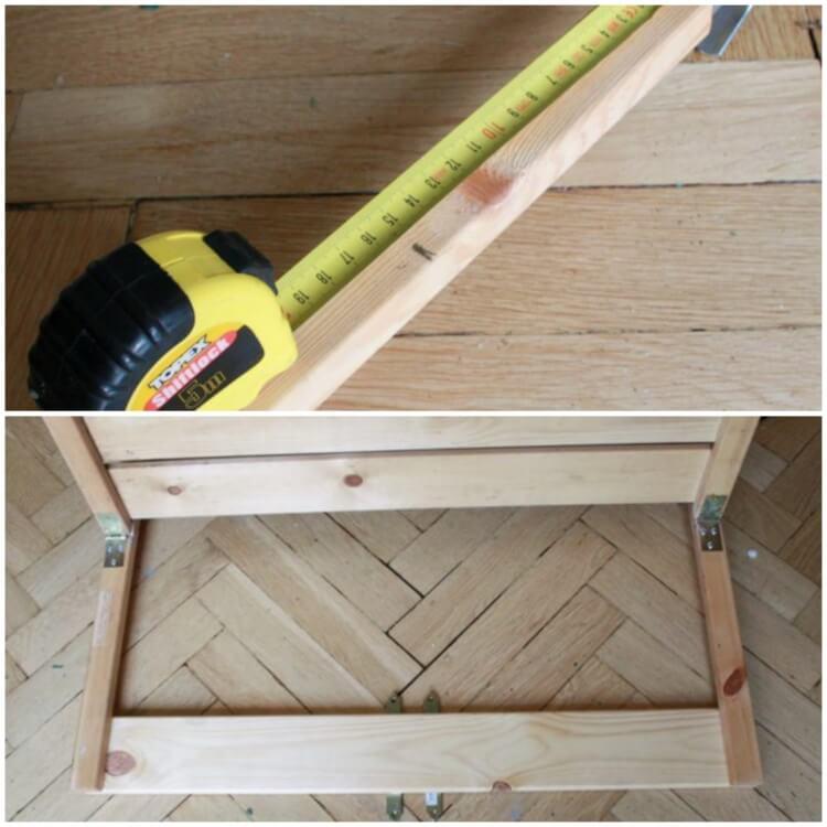 make a small balcony table dismantle shelves fix hooks