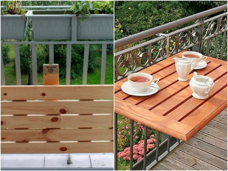make a small balcony table disassemble easily conceal