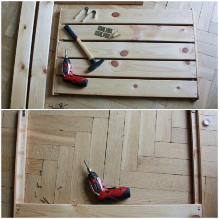 Making a small balcony table DIY tools set