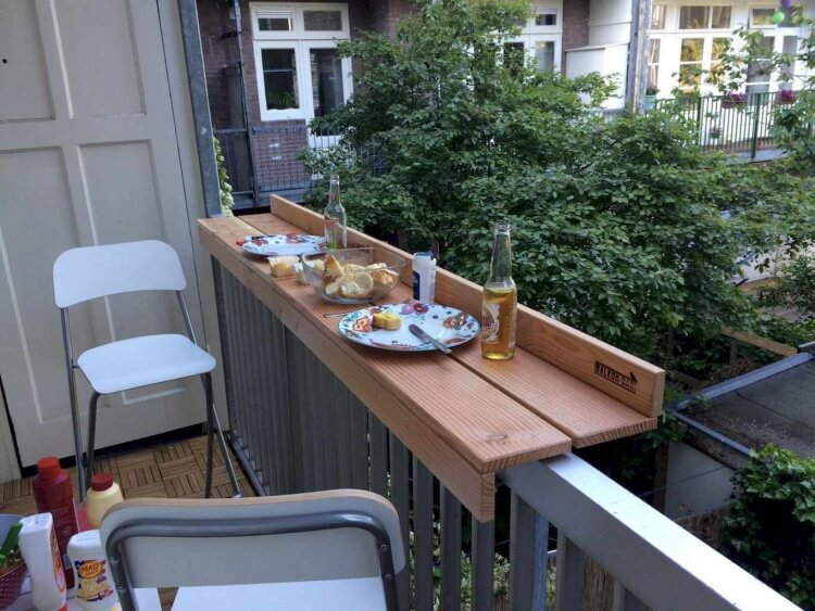 how to make a balcony bar table pallet folding hanging table