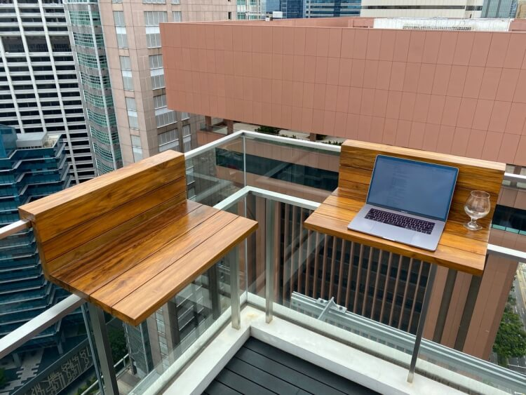 how to make a balcony table how to get the most out of it