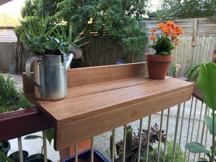 make a balcony table perfect solution for outdoor parties